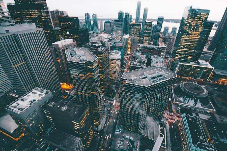上から見下ろす街並み
