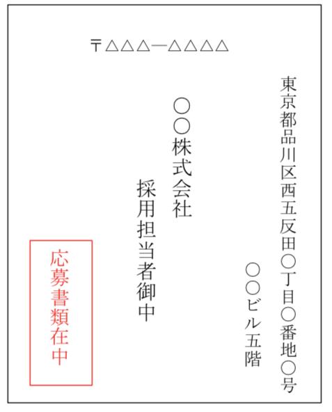 履歴書の封筒表面