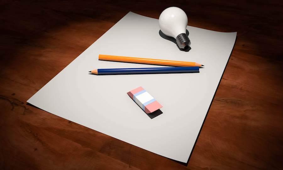 紙とペンと電球